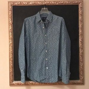 Mens Chambray Button Up